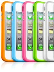 Чехол для iPhone 4 Bumper Green/Orange/White/Blue/Pink